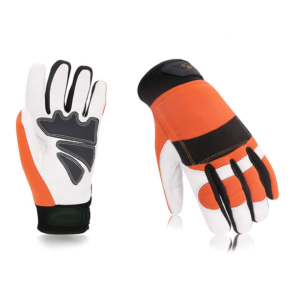 Vgo Chainsaw Work Gloves Saw Protection on Left Hand Back