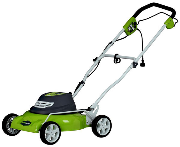 GreenWorks 12 Amp Corded 18-Inch Lawn Mower with Extra Blade 25012