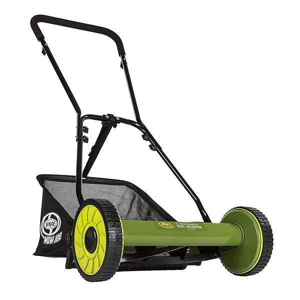 Sun Joe MJ500M Manual Reel Mower w/Grass Catcher | 16 inch